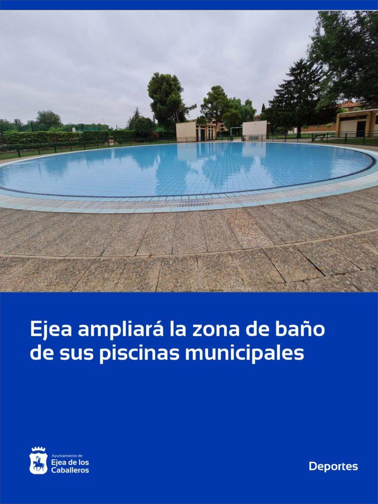 Aprobadas las obras de ampliación de la zona de baño de las piscinas de Ejea