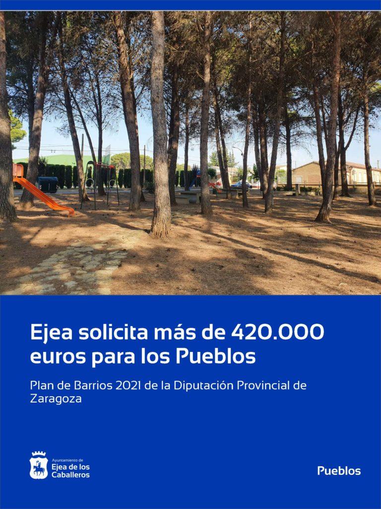 Ejea solicita más de 420.000 euros de inversión para sus Pueblos en DPZ