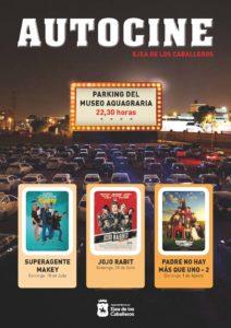 Vuelve la experiencia del Autocine a Ejea con la proyección de tres películas en el parking del Museo Aquagraria