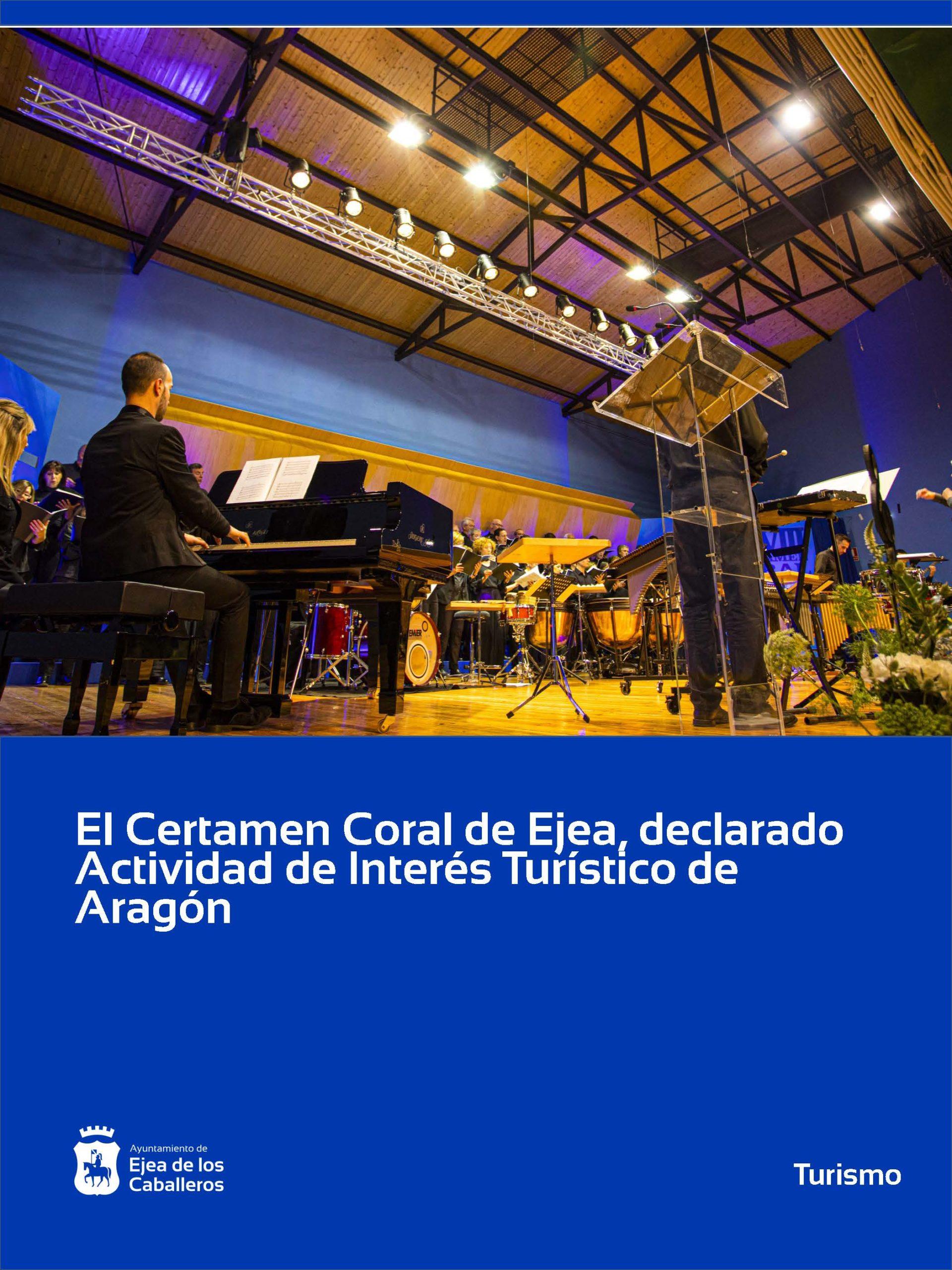 El Certamen Coral de Ejea, declarado Actividad de Interés Turístico de Aragón