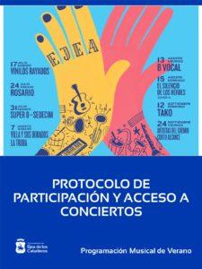 ¡SIGAMOS APLAUDIENDO!: Protocolo de participación y acceso a los conciertos de la Plaza de Toros.