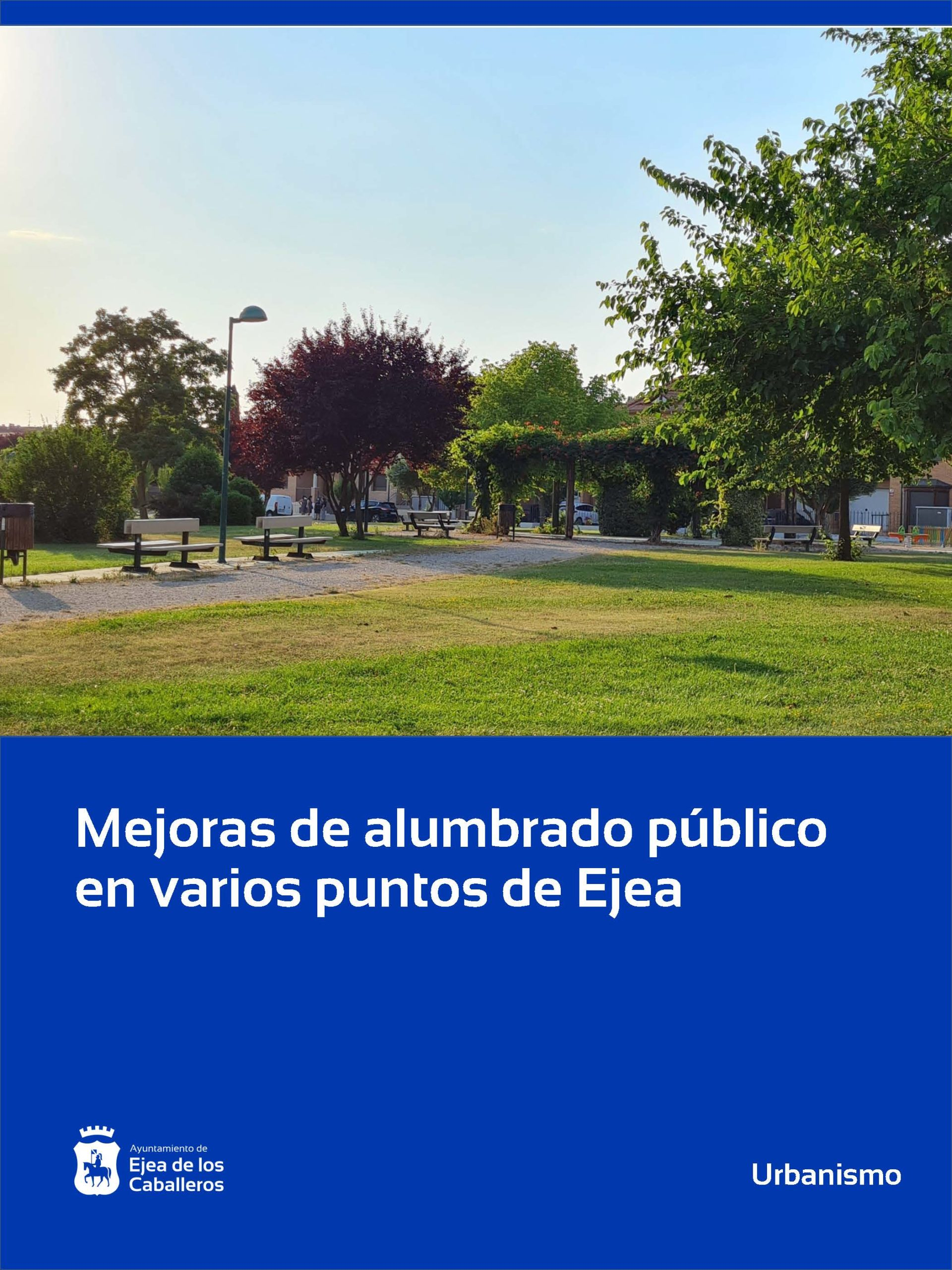 Obras de mejora en el alumbrado público de Ejea de los Caballeros