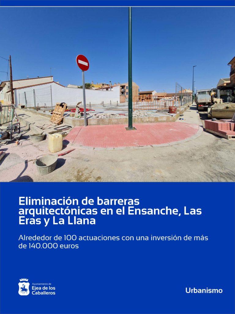 Lee más sobre el artículo Eliminación de barreras arquitectónicas en el Ensanche y los barrios de Las Eras y La Llana en Ejea