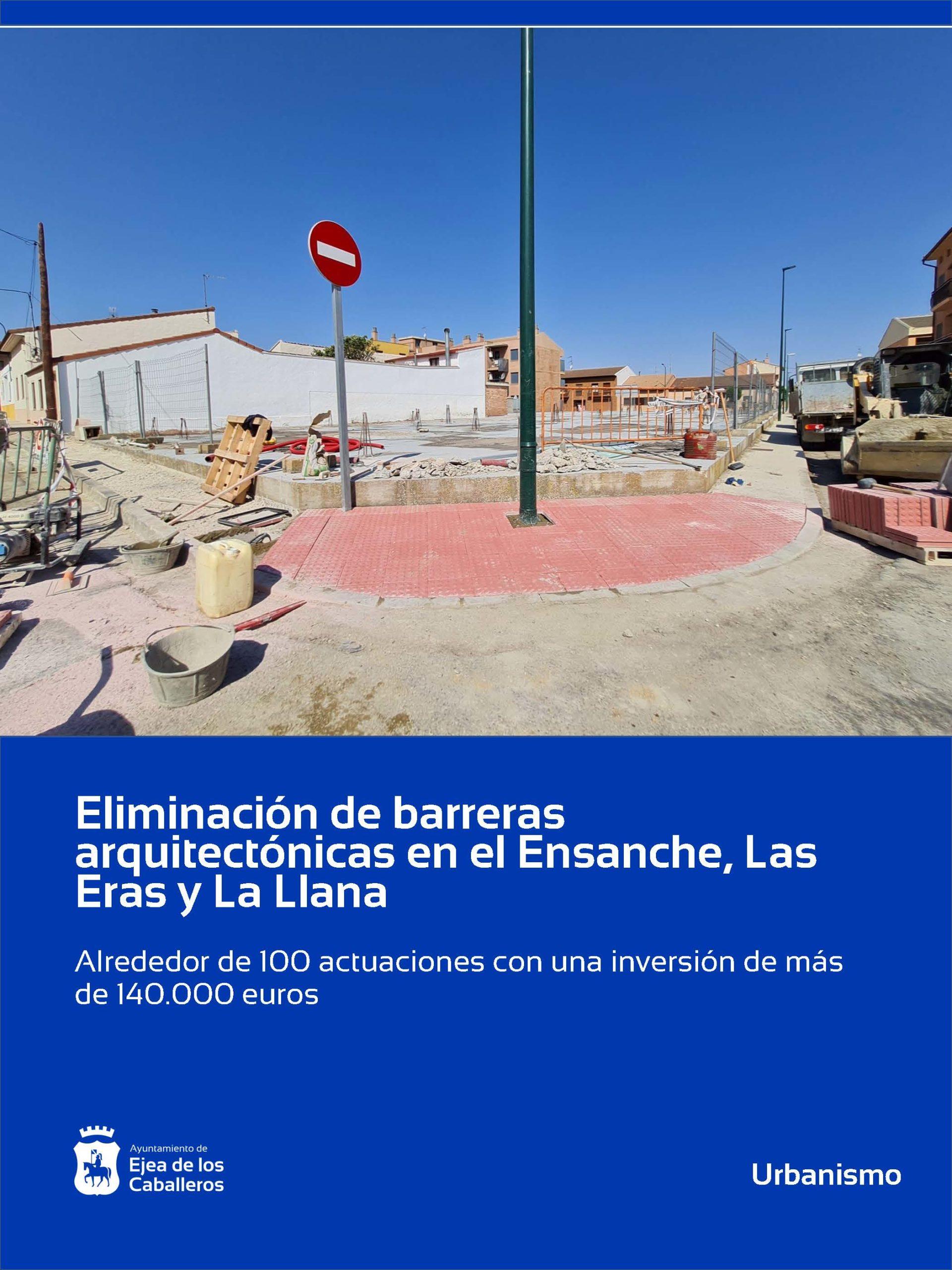 En este momento estás viendo Eliminación de barreras arquitectónicas en el Ensanche y los barrios de Las Eras y La Llana en Ejea