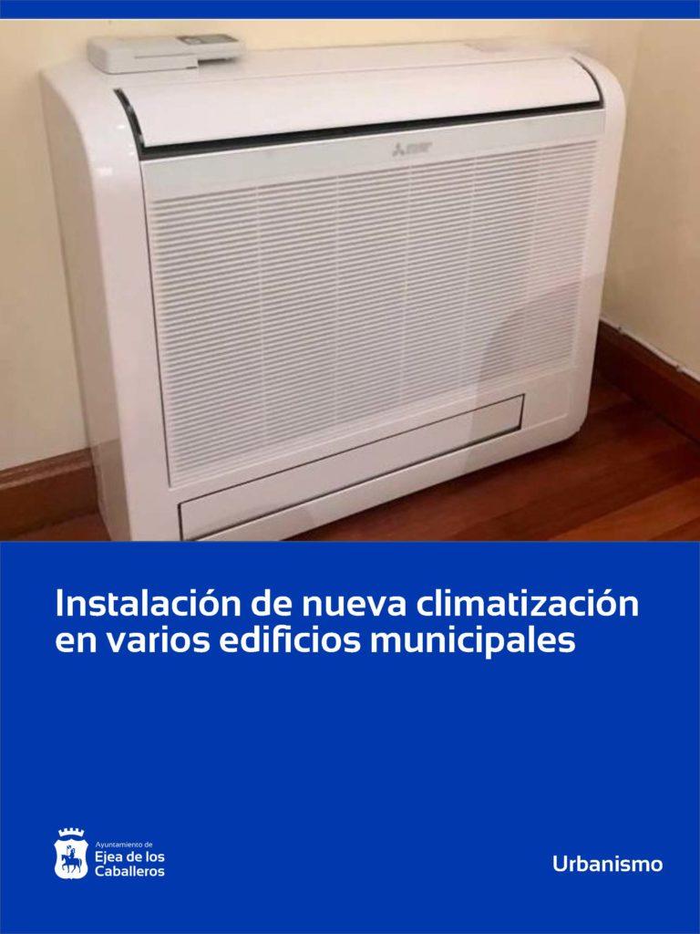 Renovadas las instalaciones de climatización en varios edificios municipales