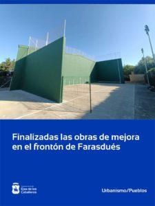 Lee más sobre el artículo Finalizadas las obras de mejora del frontón en Farasdués