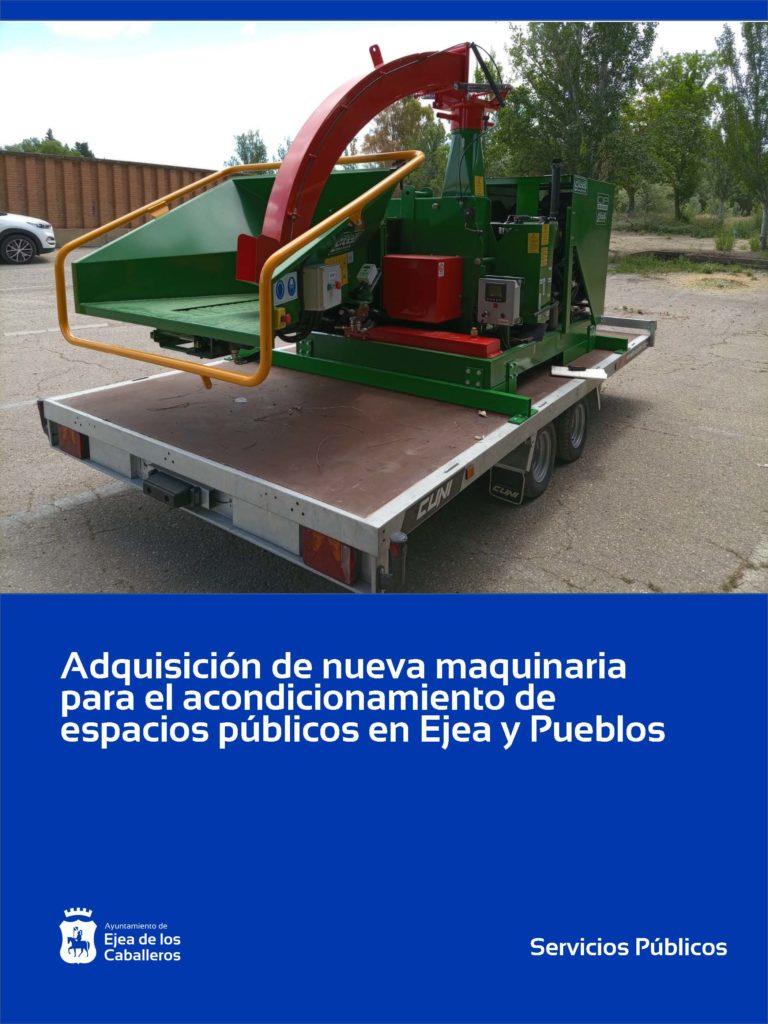 El Ayuntamiento de Ejea adquiere nueva maquinaria de trabajo para el acondicionamiento de espacios públicos