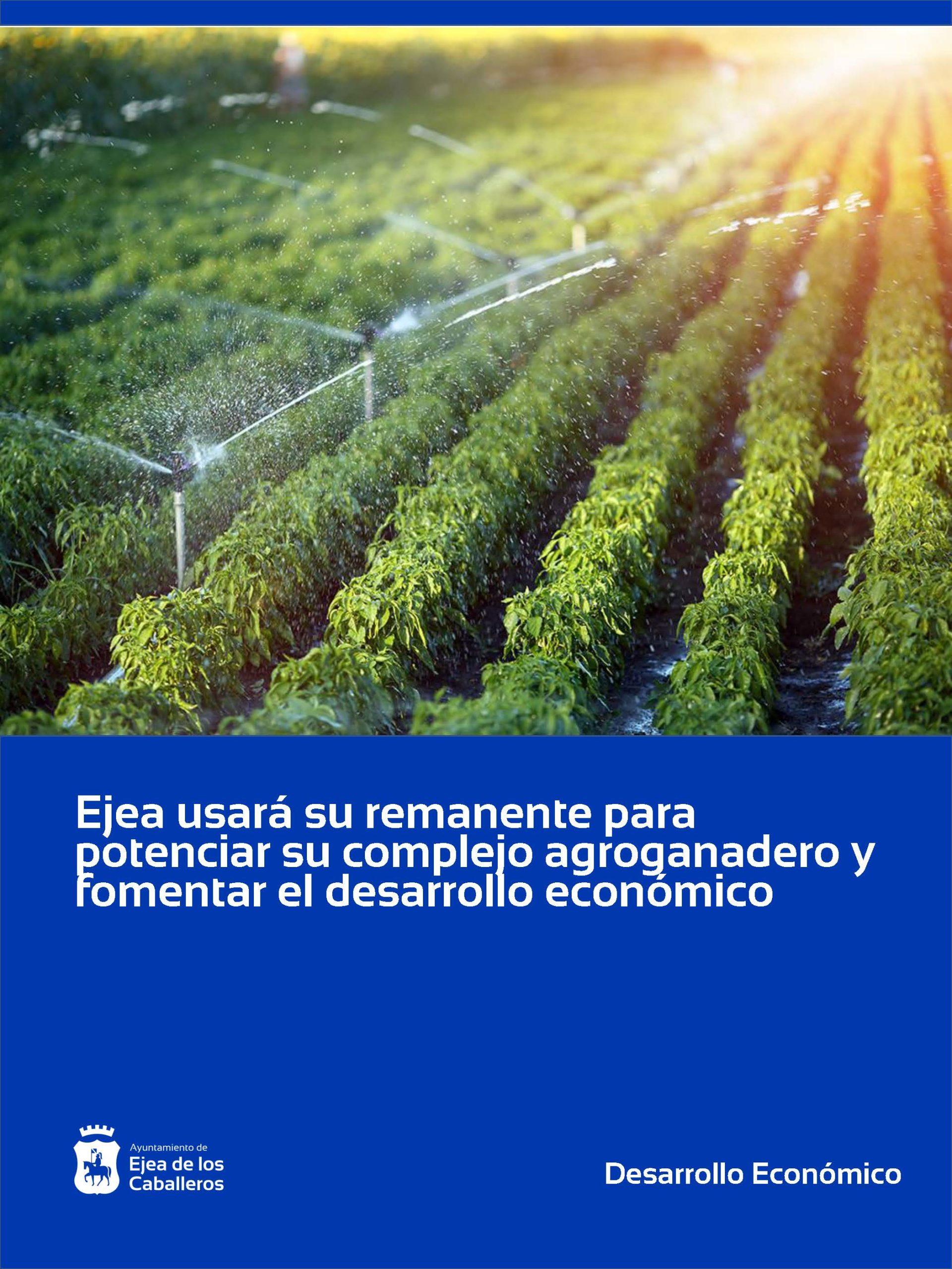 Ejea de los Caballeros continúa utilizando su remanente de tesorería con más de 5 millones de euros para potenciar su complejo agroganadero innovador y fomentar el desarrollo económico
