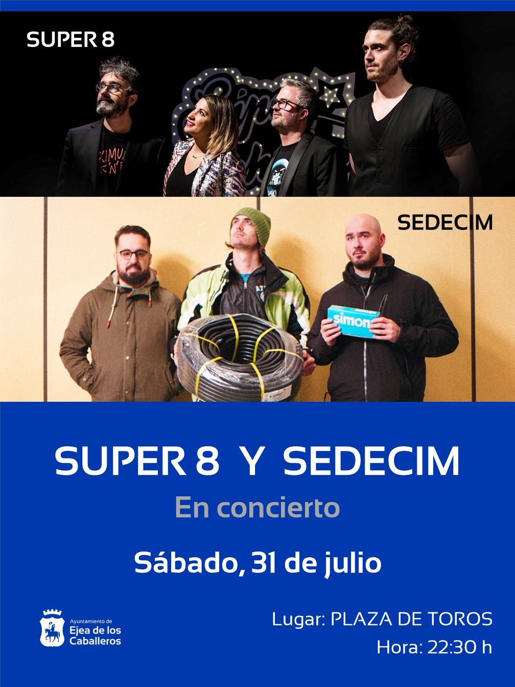 Los grupos SEDECIM y SÚPER 8, protagonistas del tercero de los conciertos del programa ¡ SIGAMOS APLAUDIENDO!