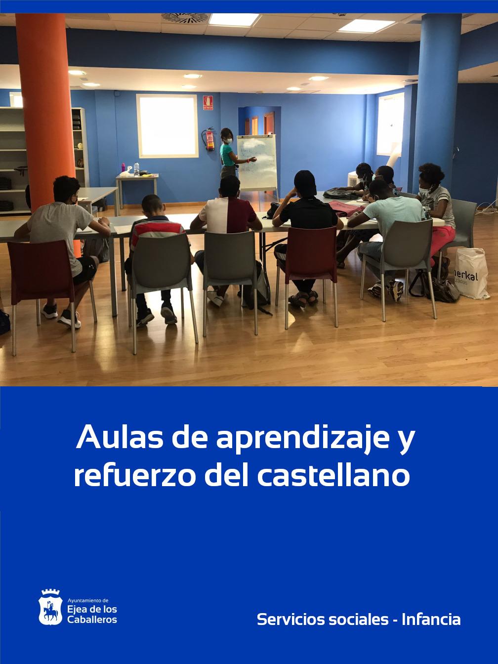 Aulas de aprendizaje y refuerzo del castellano para niños/as inmigrantes