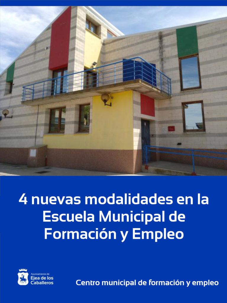 Lee más sobre el artículo Ejea contará con 4 modalidades para la Escuela Municipal de Formación y Empleo
