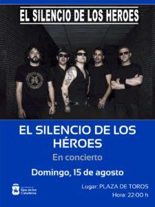 """Avanza """"¡SIGAMOS APLAUDIENDO!"""" con el concierto de la gran banda tributo """"El Silencio de los Héroes"""""""