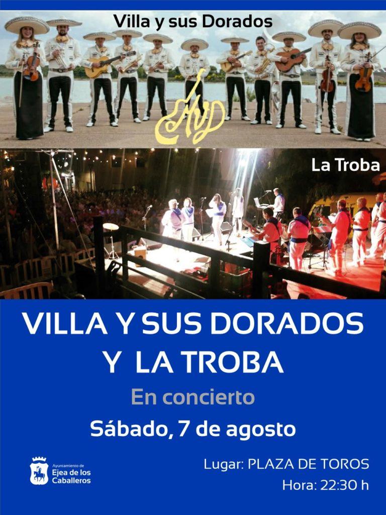 """Concierto de """"LA TROBA"""" y de """"VILLA Y SUS DORADOS"""""""