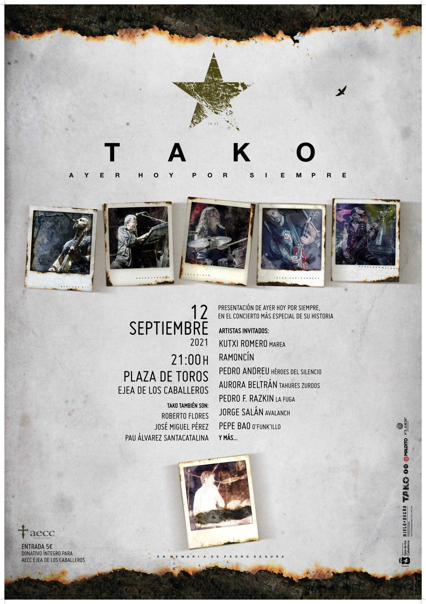"""Se ponen a la venta las entradas para el concierto """"Ayer, hoy, por siempre"""" del grupo TAKO"""