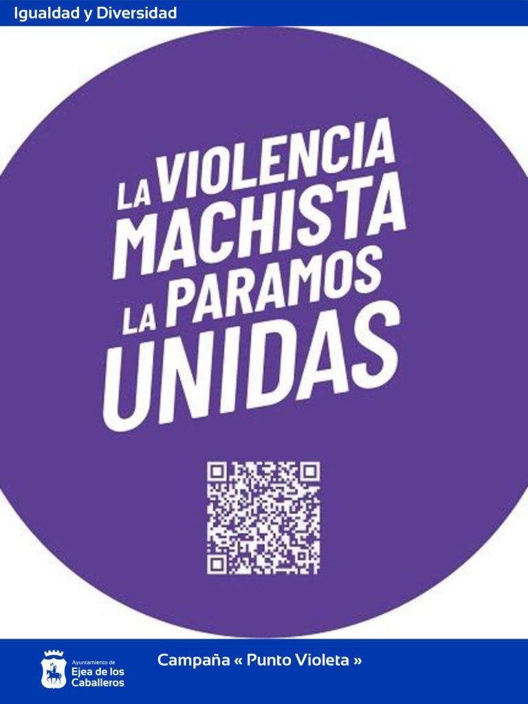 El Ayuntamiento de Ejea impulsa a nivel local la campaña «Punto Violeta»