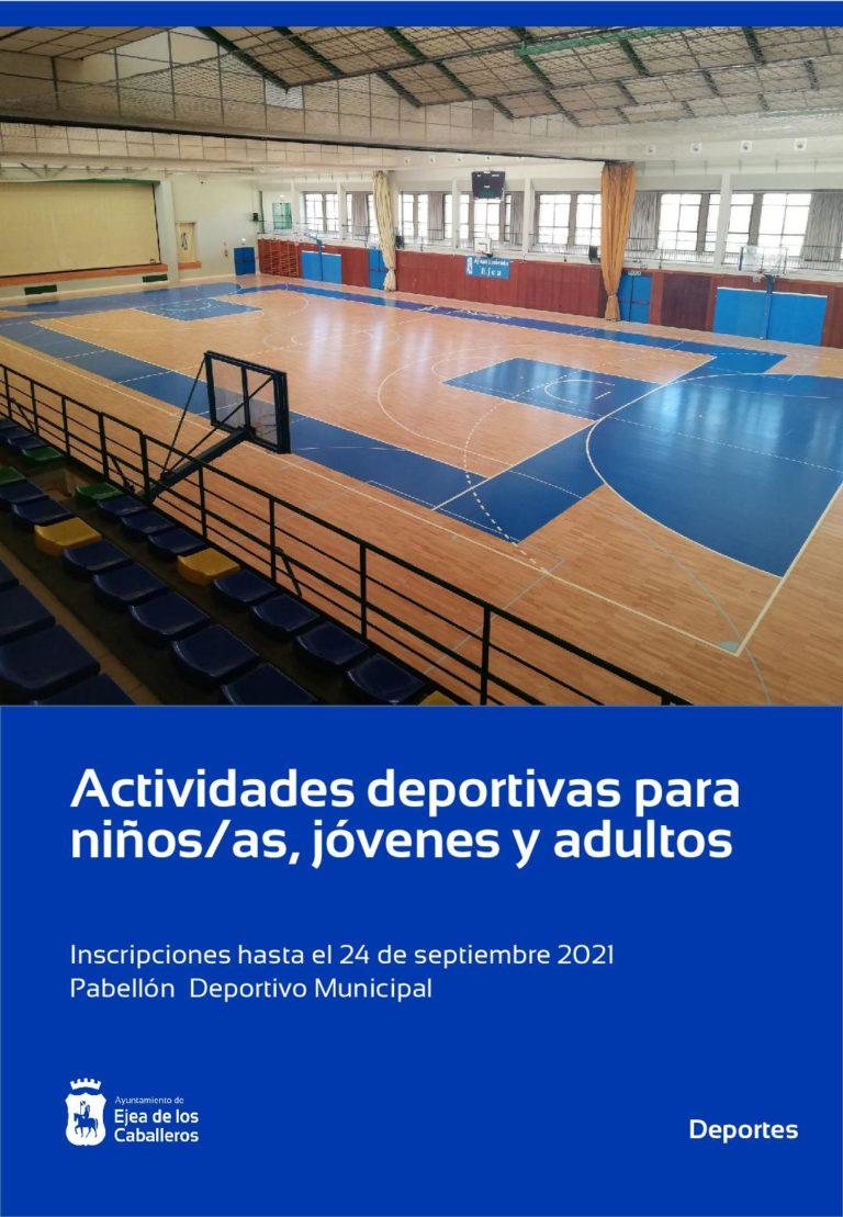Comienzan las actividades deportivas para niños, jóvenes y adultos en Ejea
