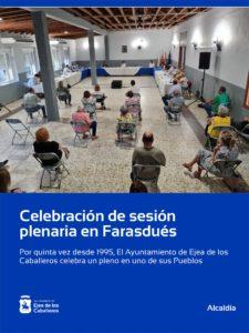 Lee más sobre el artículo Celebrado un pleno extraordinario del Ayuntamiento de Ejea de los Caballeros en Farasdués