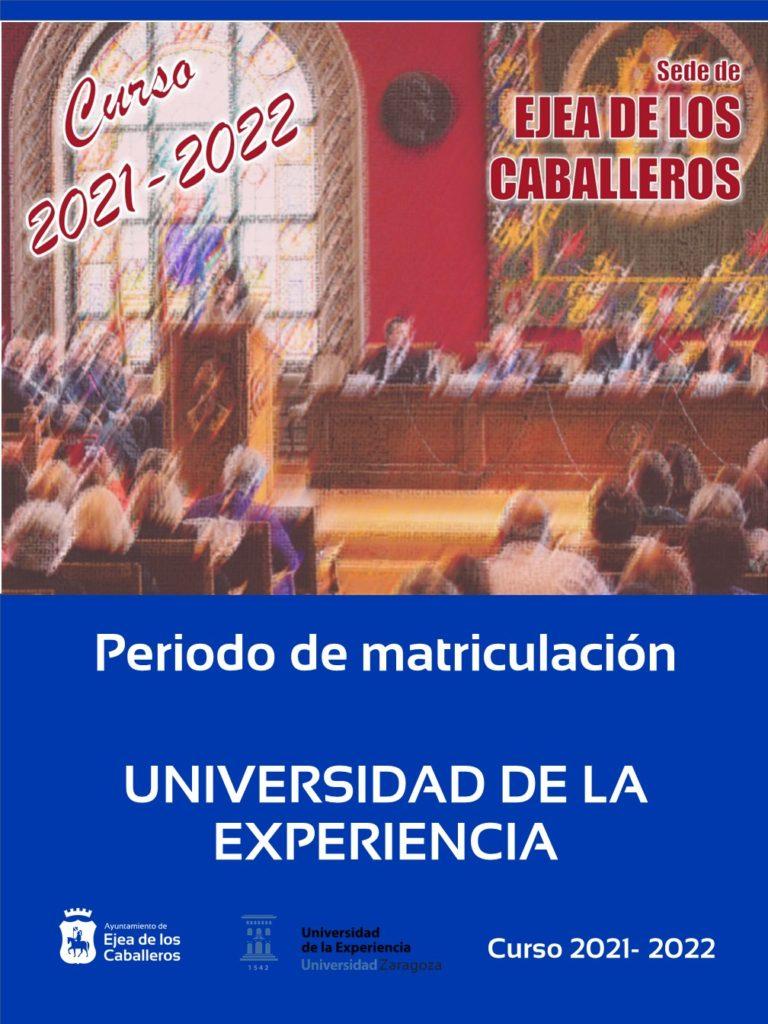 La Universidad de la Experiencia retoma la presencialidad: Apertura del plazo de matriculación