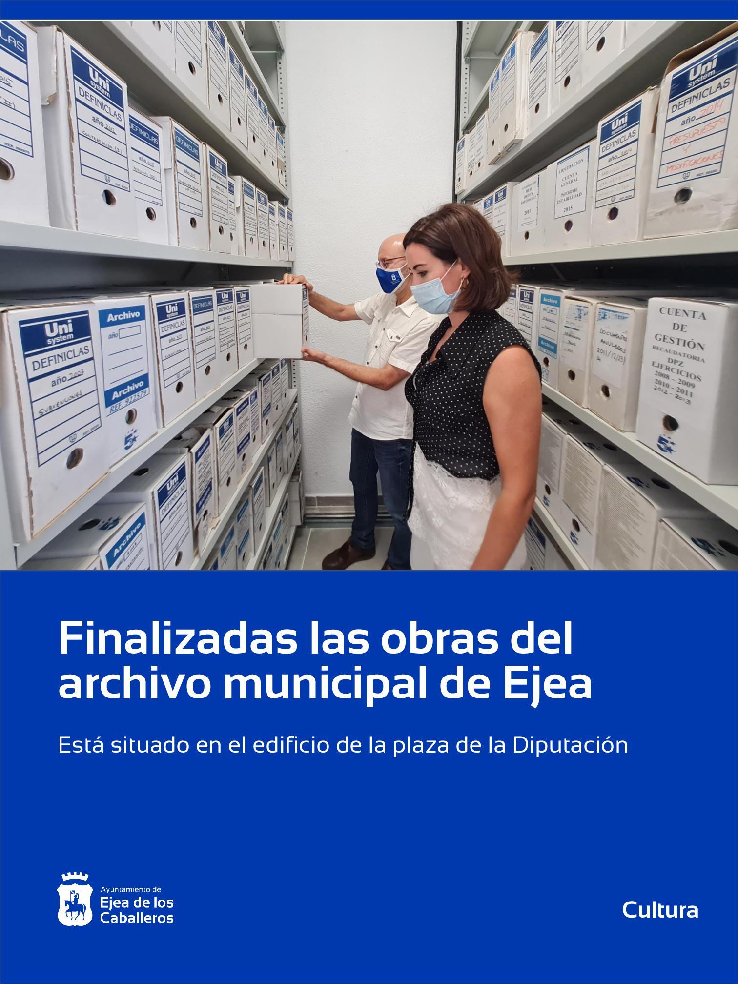 Finalizadas las obras del Archivo Municipal de Ejea de los Caballeros