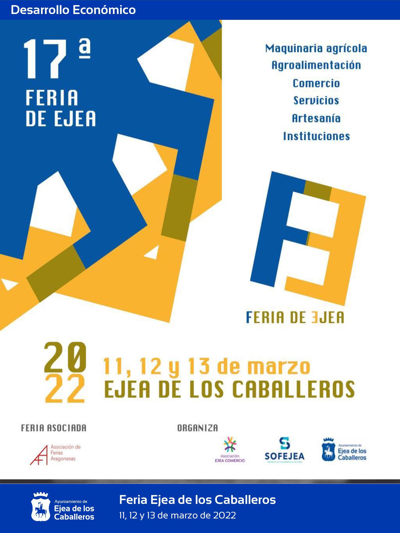 En este momento estás viendo Abierto el plazo para la inscripción de expositores en la 17ª Feria de Ejea
