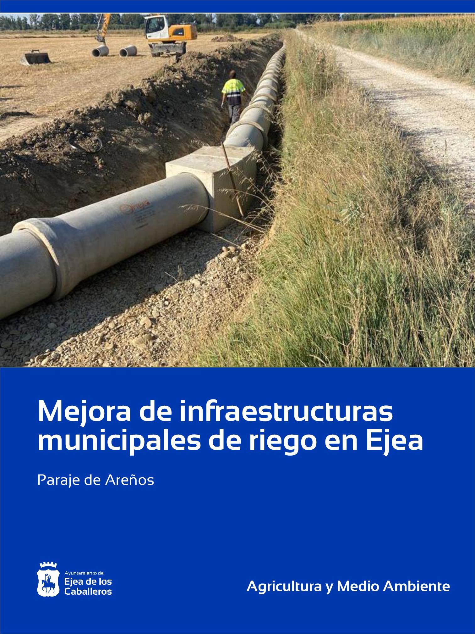 Mejora de infraestructuras municipales de riego en Ejea