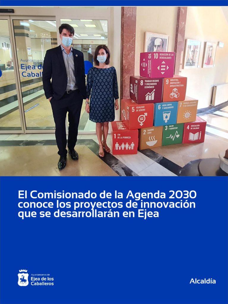 El comisionado para la Agenda 2030 conoce los proyectos de innovación que quiere desarrollar Ejea de los Caballeros
