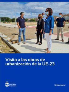 Visita a las obras de urbanización que está ejecutando la Junta de Compensación de la Unidad de Ejecución 23