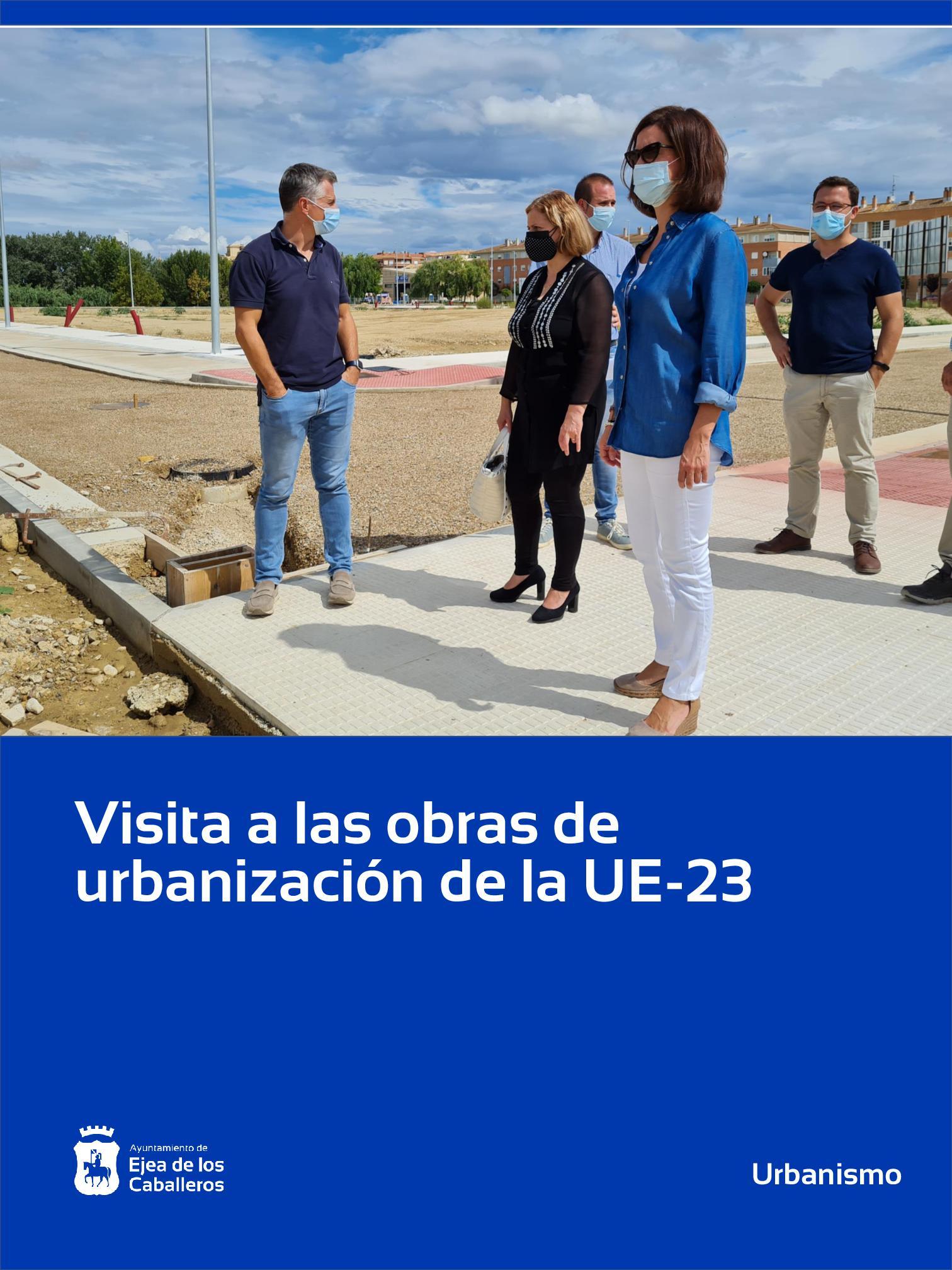 En este momento estás viendo Visita a las obras de urbanización que está ejecutando la Junta de Compensación de la Unidad de Ejecución 23