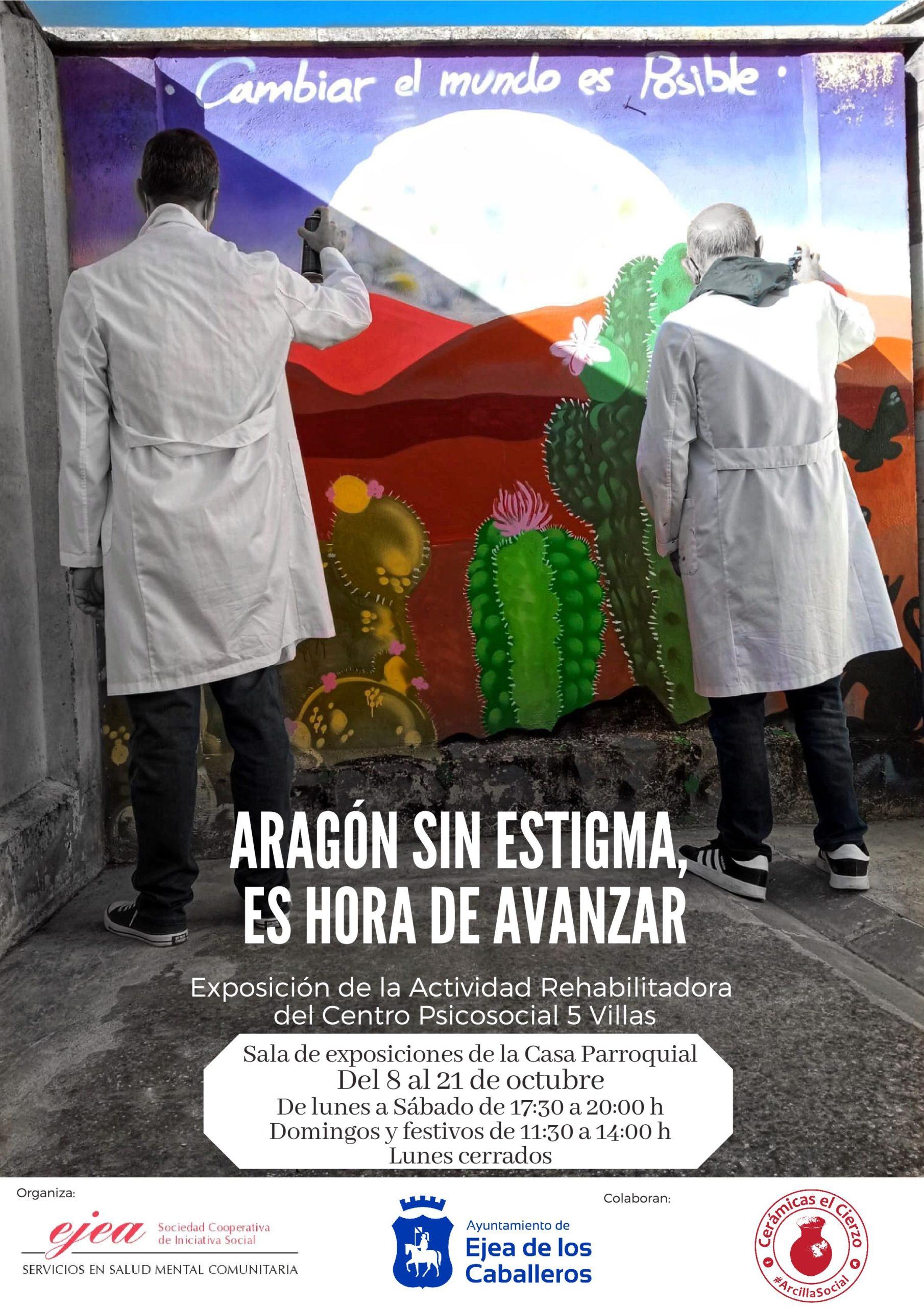 """En este momento estás viendo """"Aragón sin estigma. Es hora de avanzar"""": Lema de la exposición sobre la actividad rehabilitadora del Centro Psicosocial 5 Villas"""