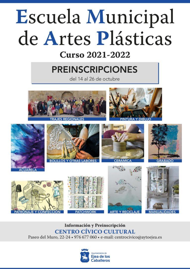 Lee más sobre el artículo Escuela Municipal de Artes Plásticas: Apertura del plazo de preinscripciones para el curso 2021-2022