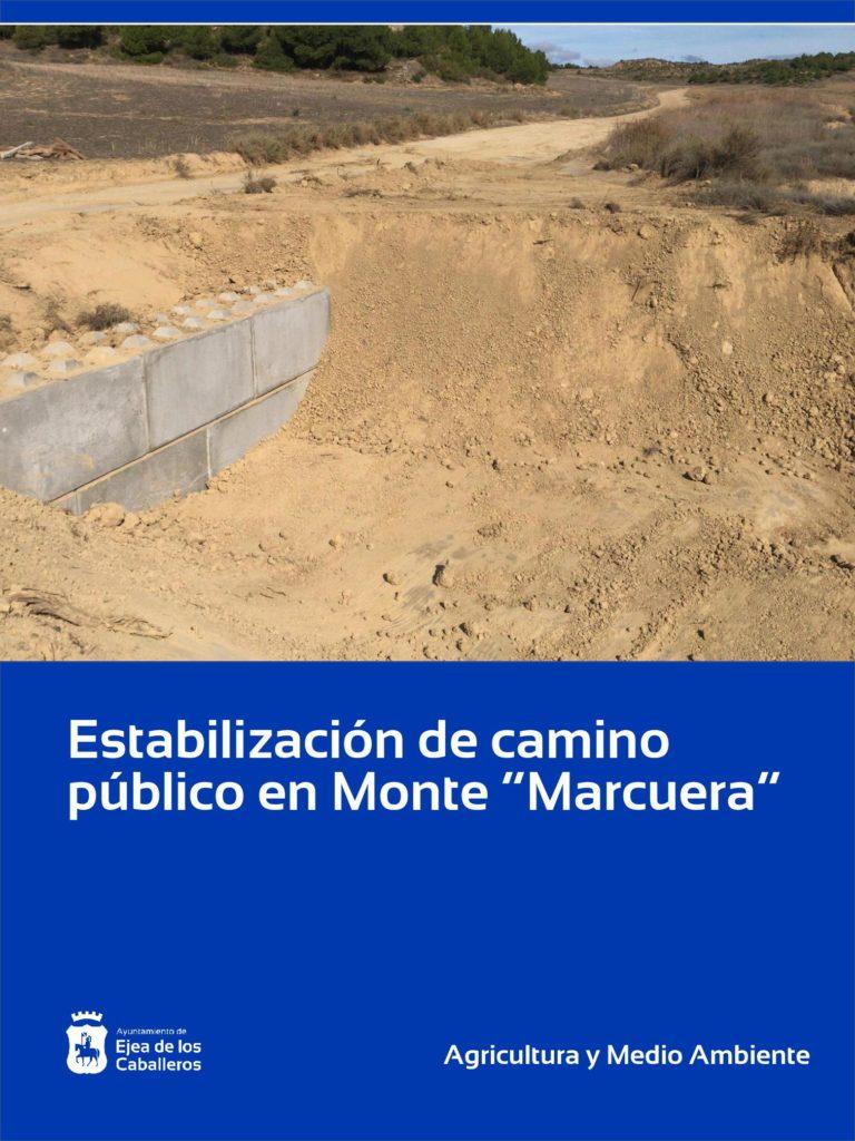 """Lee más sobre el artículo Estabilización de camino público en el Monte de """"Marcuera"""" de Ejea"""