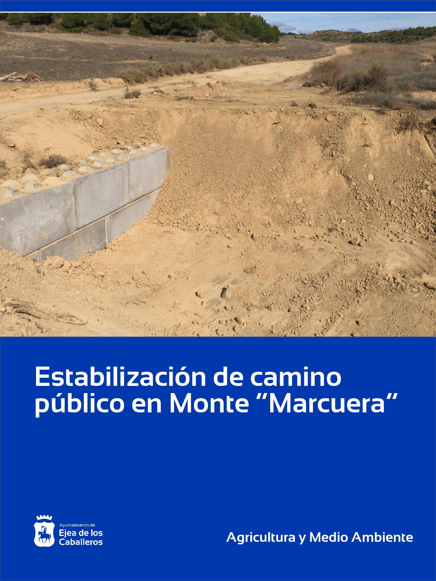"""En este momento estás viendo Estabilización de camino público en el Monte de """"Marcuera"""" de Ejea"""