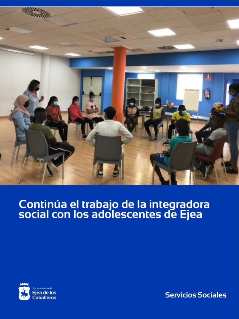 Lee más sobre el artículo Continúa el trabajo de formación y aprendizaje de la Integradora Social con adolescentes de Ejea y Pueblos
