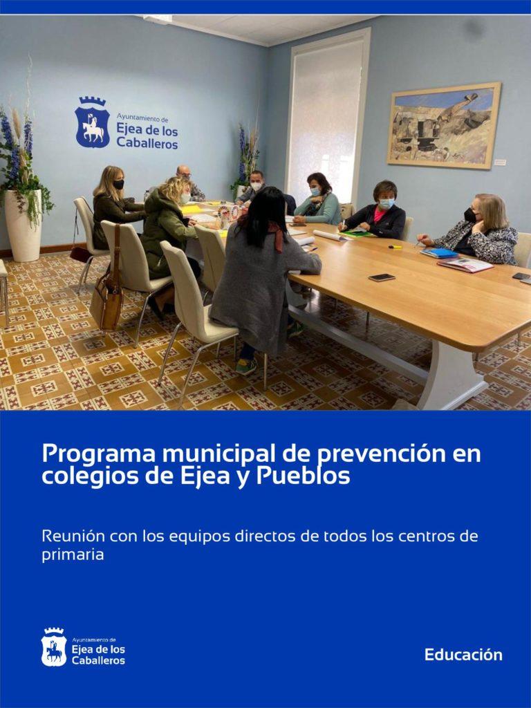 Lee más sobre el artículo En marcha el programa municipal de prevención en colegios de Ejea y sus Pueblos