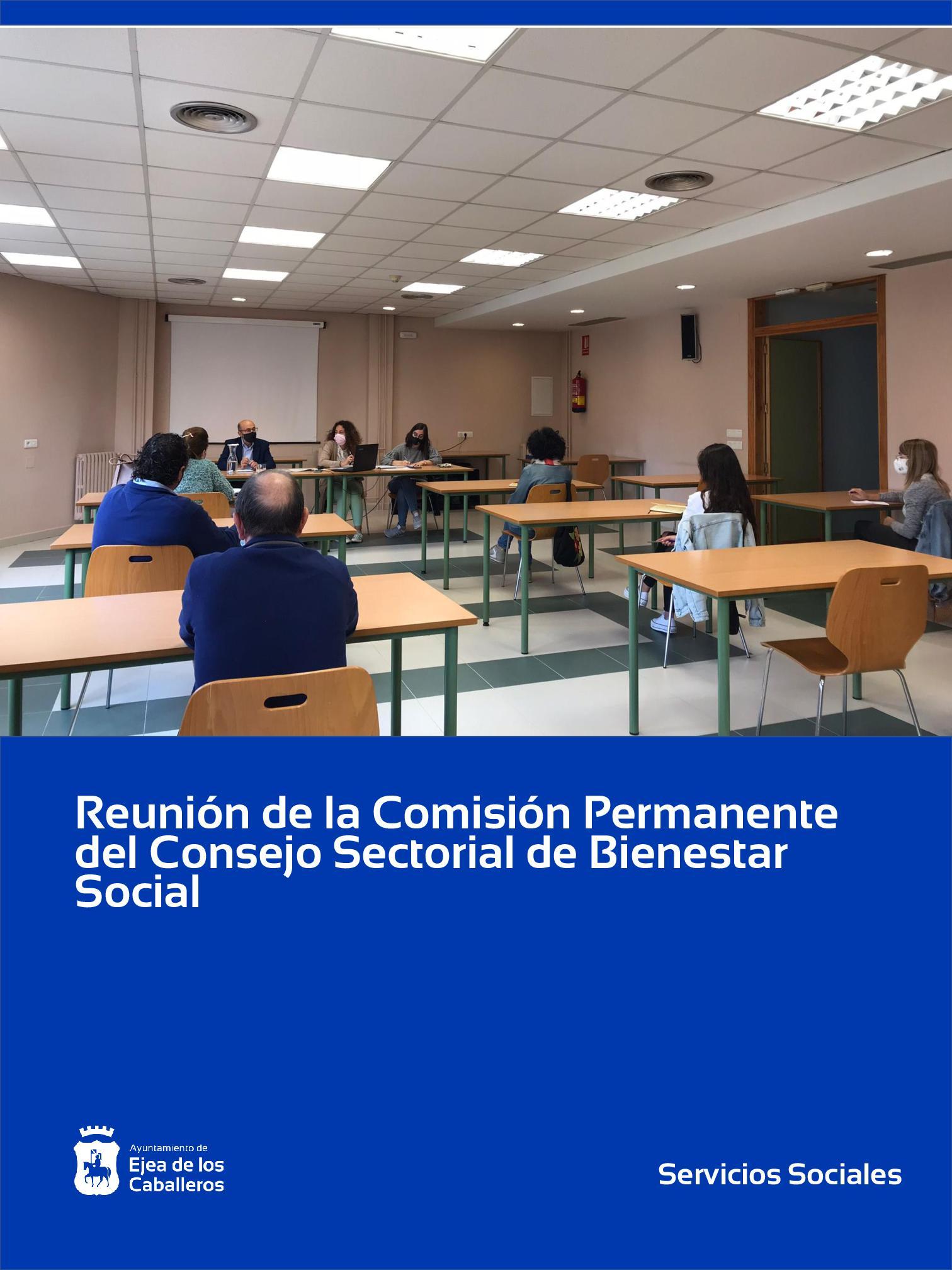En este momento estás viendo Reunión de la Comisión Permanente del Consejo Sectorial de Bienestar Social de Ejea